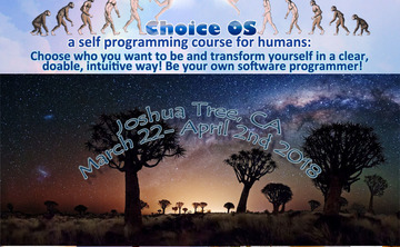 Choice OS: A Self Programming Course for Humans. Joshua Tree National Park, California, March 2018