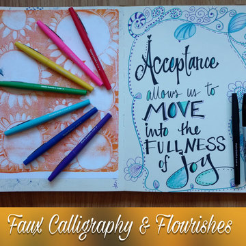 Faux Calligraphy & Flourishes Dec 9th 1:30pm