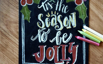 Project: Chalkboard Lettering Dec 9th 3:30pm