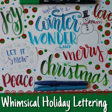 Whimsical Holiday Lettering Nov 18th 4pm