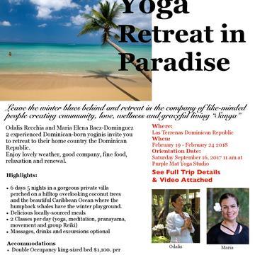 Yoga Retreat in Paradise