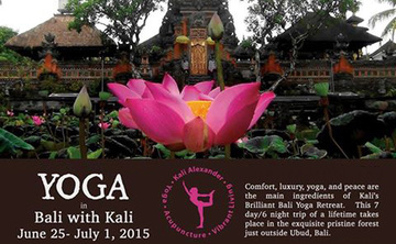 Brilliant Bali Retreat with Kali in June 2015
