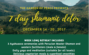 7 Day Shamanic Detox with Ayahuasca (December 2017)