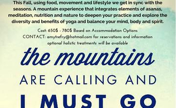 Soul Shine Mountain Time: Health and Wellness Yoga Retreat