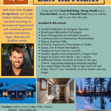 5 Day All In Arctic Experience/Yoga/Meditation/Nutrition in Lapland