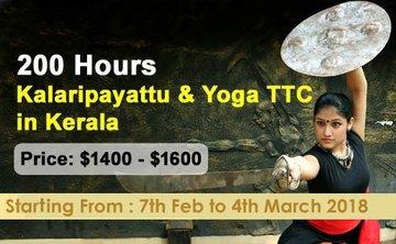 200-Hours Kalaripayattu and Yoga Teacher Training in Kerala