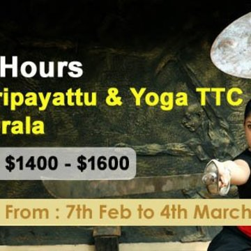 200-Hours Kalaripayattu and Yoga Teacher Training in Kerala