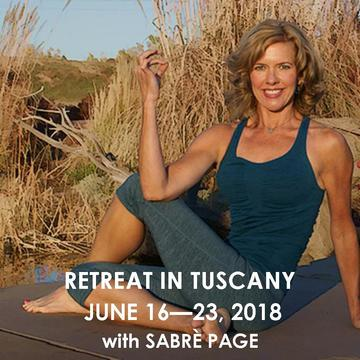YOGA RETREAT IN TUSCANY WITH SABRE PAGE | JUNE 23 – 30, 2018