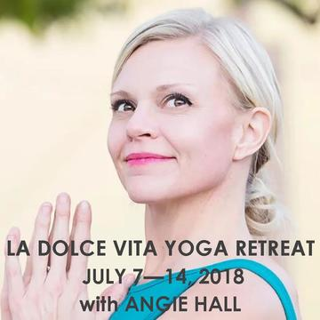 LA DOLCE VITA ITALY RETREAT WITH ANGIE HALL | JULY 7 – 14, 2018