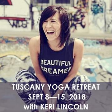 "TUSCANY RETREAT ""SEPTEMBER SCINTILLA"" WITH KERI LINCOLN 