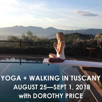 YOGA + WALKING RETREAT IN ITALY WITH DOROTHY PRICE | AUGUST 25 – SEPT 1, 2018