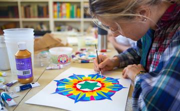 Chakra Mandala Painting