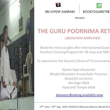48 Day, 500-hour Gyana Pilgrimage w/ Guru Poornima Retreat, India