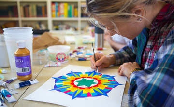 Planet Mandala Painting