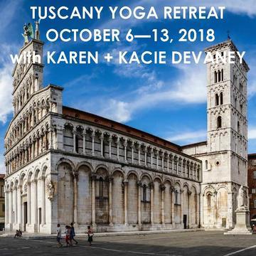 YOGA RETREAT IN ITALY WITH KAREN + KACIE DEVANEY | OCTOBER 6 – 13, 2018