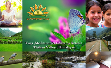12 DAYS YOGA, MEDITATION & CHANTING RETREAT TIRTHAN VALLEY HIMALAYAS INDIA