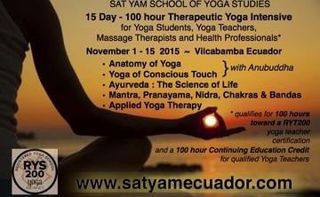 15 Day Therapeutic Yoga Intensive in Ecuador