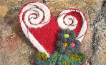 Felting Class: Make Brooches with Ina Bernard