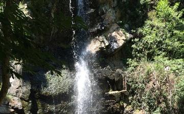 Green Waterfall Retreat Autumn
