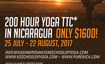 Yoga Teacher Training In Nicaragua with Kashmir Shaivism School Of Yoga from India!!