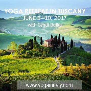 2017 Yoga Retreat in Tuscany with Cyndi Bulka