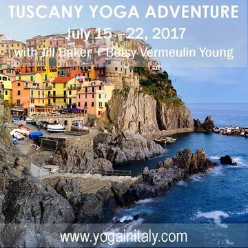 2017 Summer Yoga Adventure in Tuscany with Jill Baker + Betsy Young