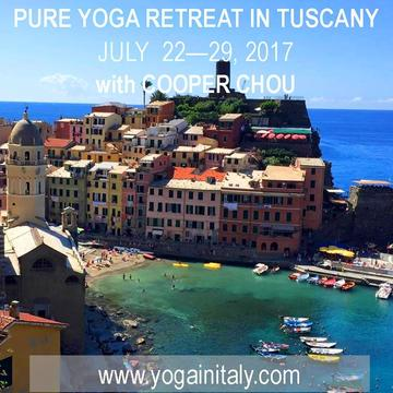 2017 PURE Yoga Retreat in Tuscany with Cooper Chou