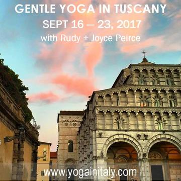 2017 Gentle Yoga in Tuscany with Rudy & Joyce Peirce
