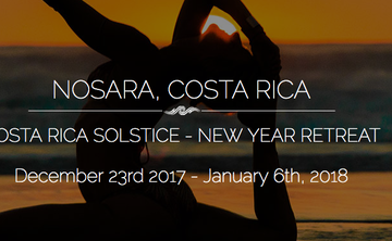 COSTA RICA:  FULL THREE WEEKS – Winter Solstice + New Year's Pranaficiation Retreat