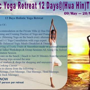 12 Days / 11 Nights Holistic Yoga Retreat - Thailand (Hua Hin)
