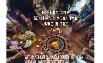 French Alps Yoga teacher Training with Kashmir Shaivism School Of Yoga at Mind freedom Yoga studio Grenoble
