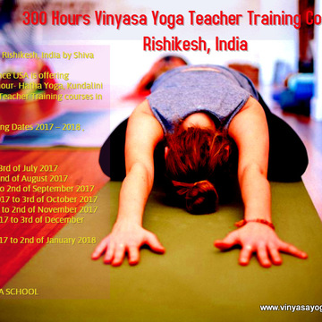 300 hour Vinyasa yoga Teacher Training course in Rishikesh, India