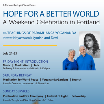 Hope for a Better World Weekend Celebration
