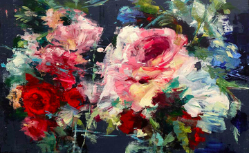 Painting Flowers in Acrylics